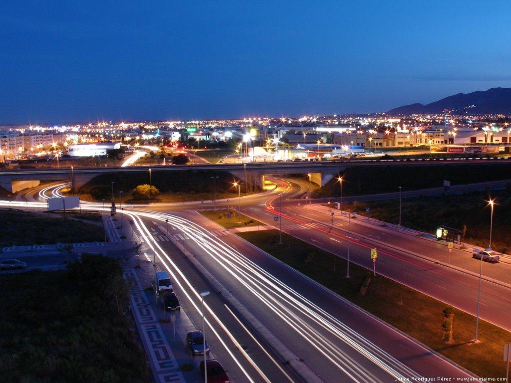 Night photo from Málaga and Sevilla